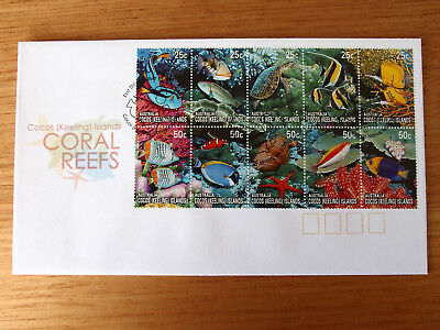 Cocos (Keeling) Islands 2006- CORAL REEFS   First Day Cover  -green