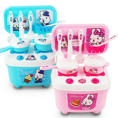 Children Kids Kitchen Cooking Role Play Pretend Toy Cooker Game Set