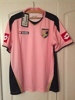 U.S. Citta Di Palermo 2007-08 Home Shirt Large New Pink Lotto Serie A Italian