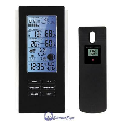 New Blue LED Wireless Weather Station Sensor Humidity Temperature Barometer RCC