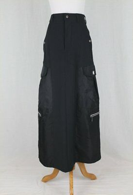 Vintage Marithe Francois Black Military Pocket Maxi Skirt New Condition XS 25
