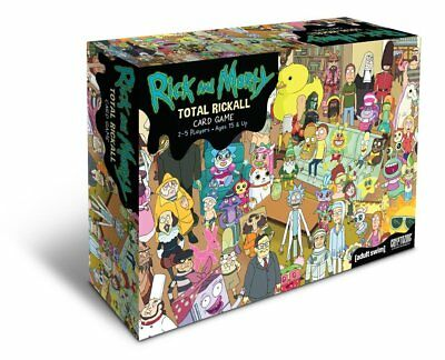 Rick and Morty Total Rickall Cooperative Card Game New