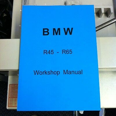 BMW R45 & R65 Workshop Manual Service Technical Instruction