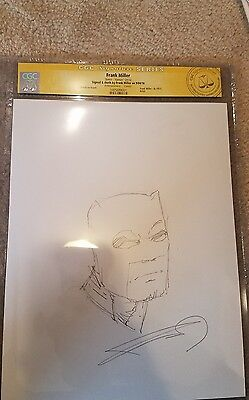 Dk Iii - Dark Knight Returns Frank Miller Original Batman Sketch  Signed & Cgc