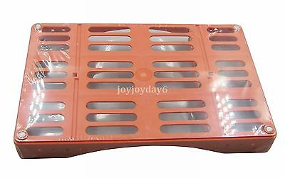 AY Dental Tray Box Plate Sterilization Surgical Instrument Red 10*1 Large JY