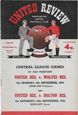 Manchester  United V Charlton Athletic -1954/55   4-9-1954