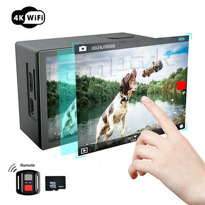 Campark X20 Action Sport Camera WiFi HD 4K 20MP Waterproof Dual LCD Touch Screen