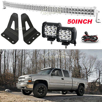 Hardware Upper Windshield Mounting Brackets 50 Inch Curved Led Light Bar Mounts For 2007-2015 4wd 2wd Chevrolet Silverado 1500 Pickup G Brackets & Clamps