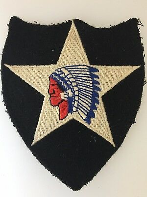 WWII America/American U.S. Army 2nd Infantry Division cloth sleeve patch
