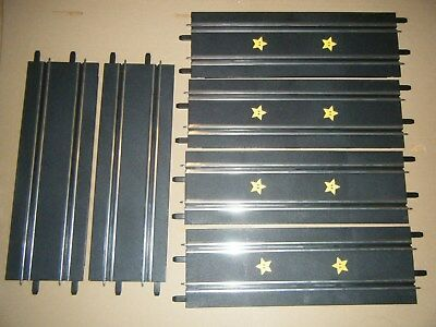 Bulk lot of six CARRERA GO straight  track