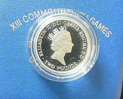 UK 1986 COMMONWEALTH GAMES ROYAL MINT 2 POUND SILVER PROOF - boxed/coa