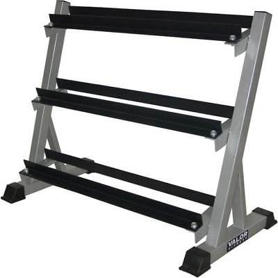 3 Tier Dumbbell Rack Weight Gym Barbell Tier Cap Fitness