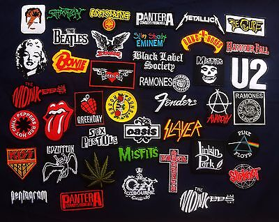 Lot of 41 Wholesale Band Music Rock Metal Pop Punk Iron On Patch Embroidered R41