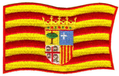 PARCHE bordado en tela BANDERA DE ARAGON, EMBROIDERED PATCH
