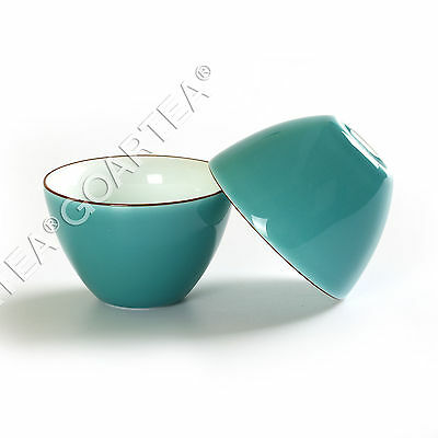 62ml Top Fashion GongFu Tea Porcelain Ceramic JingDe Chinese Cyan teacup tea Cup