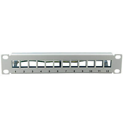 "ProfiPatch Patch panel Distribution box 12 Port for Keystone Jack Module 10"" 1U"