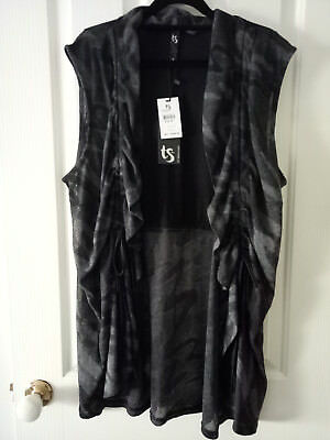 """TS Taking Shape Black and Charcoal """"In Style"""" Vest Size M"""
