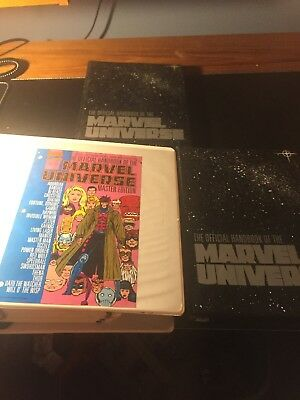 Lot Of 3 Marvel Universe Master Edition Binders 1 Large 2 Small
