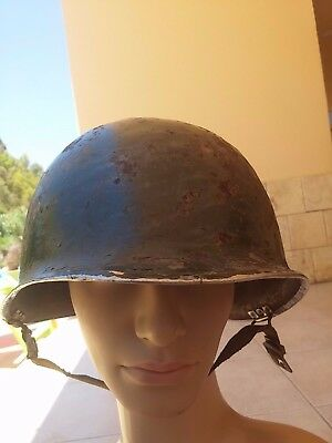 US ARMY M1 HELMET in USED CONDITION ORIGINAL WWII FRONT SEAM