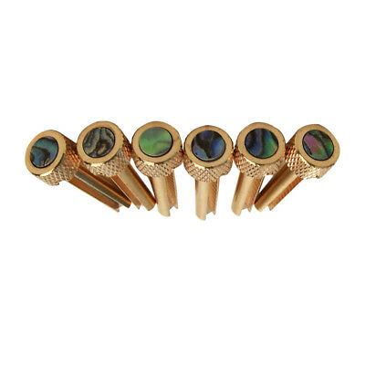 Abalone Dot Inlay 6 Pcs For Acoustic Guitar Accessory Solid Brass Bridge Pins