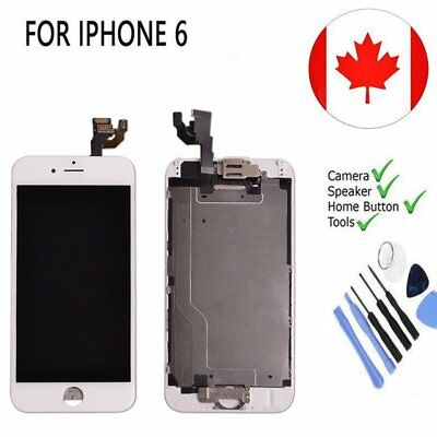 White iPhone6 4.7'' LCD Touch Screen Replacement with Camera &Home Button CA