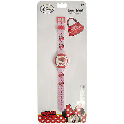 MINNIE MOUSE Reloj Pulsera Infantil Digital Muñeca Disney Blister Ideal Regalo