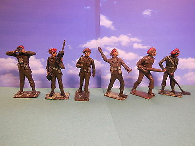 CHERILEA 60mm British Paratroopers Red Berets Vintage Plastic Toy Soldiers 1:32