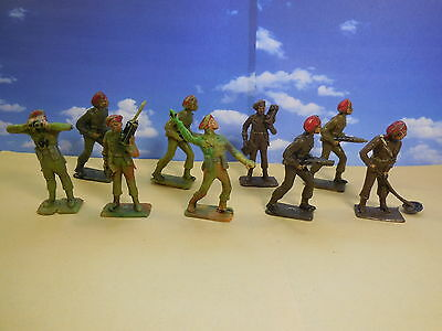 60mm CHERILEA WW2 British Paratroopers Red Berets Vintage Toy Soldiers 1:32