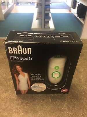 Braun Silk-Epil 5 Power 5780 Epilator with 7 Extras, Shaver Head and Trimmer Cap