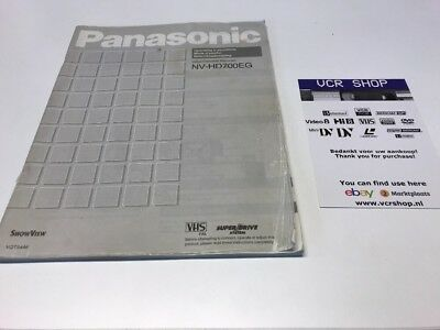 Manual: Panasonic NV-HD700EG - EN, FR, NL