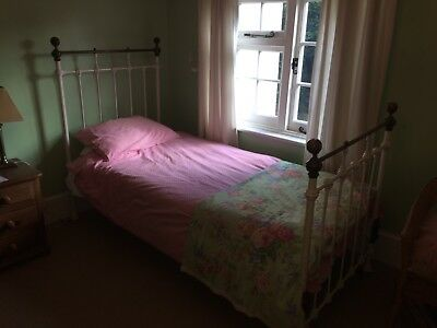 Victorian Antique Cast Iron Single Bed