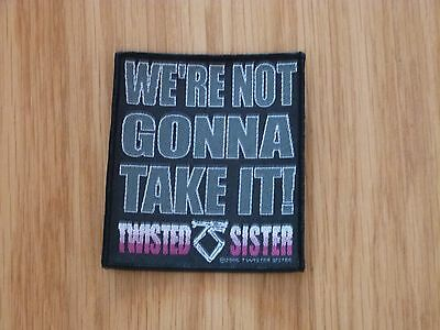 Twisted Sister - We're Not Gonna Take It(New) Sew On W-Patch Official Band Merch