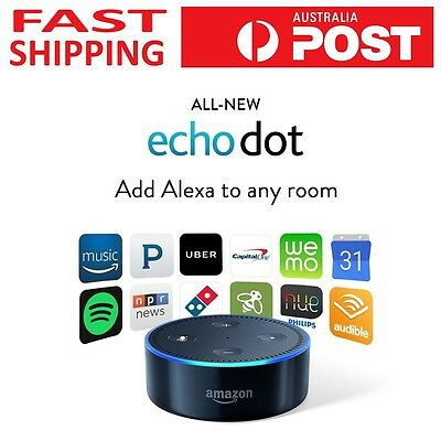 2017 Black Amazon Echo Dot 2nd Gen New Sealed - 5% off with code P5OZZIE