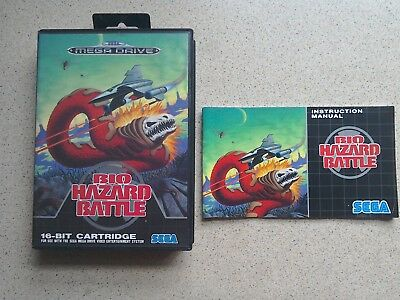 Bio Hazard Battle EMPTY BOX  & MANUAL ONLY - For Sega Mega Drive Game (PAL)