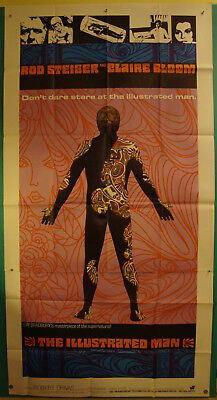 The Illustrated Man-Sci Fi-Ray Bradbury-Rod Steiger-3sh Foreign (41x81 inch)