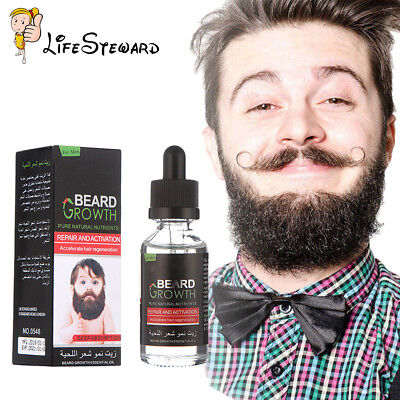 Natural Organic Beard Growth Oil Balsam Wax Hair Beard Loss Conditioner 40ml New