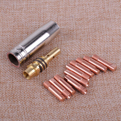 12pcs MB 15AK MIG/MAG Welding Torch Contact Tip 0.8 x 25mm M6 Gas Nozzle Holder