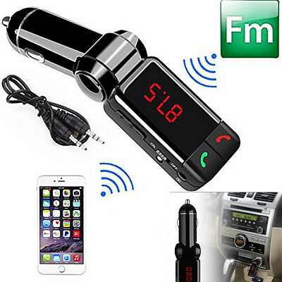 New LCD Bluetooth Car Charger Kit Dual USB Handsfree MP3 Player FM Transmitters
