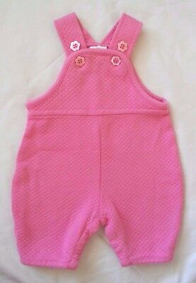 Hanna Andersson 0 3 6 Mos Pink Coveralls Sz 50 Solid Flower Buttons Overalls