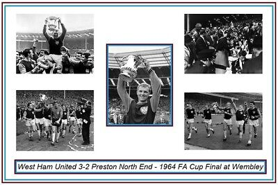 SALE WEST HAM UNITED 1964 FA CUP HIGH QUALITY PROFESSIONAL PHOTOGRAPH 12x8