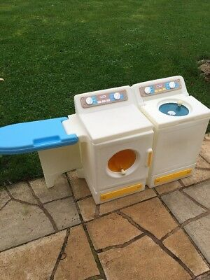 RARE VINTAGE LITTLE TIKES LAUNDRY - Washer, Dryer & Ironing  board