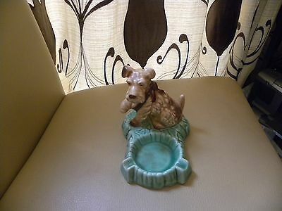 Sylvac Dog With Paw In Sling On Ashtray 1366