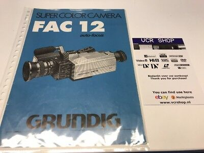 Manual: Grundig Super Color Camera FAC12