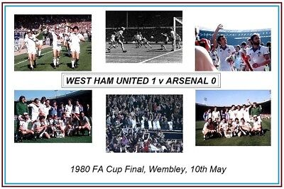 SALE WEST HAM UNITED 1980 FA CUP HIGH QUALITY PROFESSIONAL PHOTOGRAPH 12x8