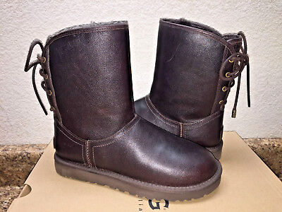 6a74fc210d5 UGG MARIANA CHESTNUT Leather Water Resistant Boot Women Usa 6 / Eu 37 / Uk  4.5