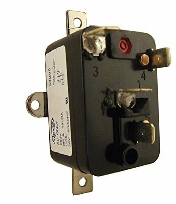 Supco 90290 General Purpose Fan Relay 4 A Load Current 24 V Coil Voltage Sing...
