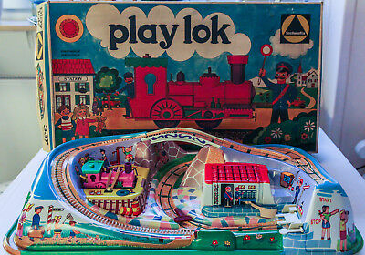 Bahn Technofix No. 337 Play Lok; OVP; unbespielt; Made in Western Germ.; 1970s