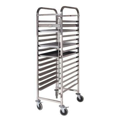 SOGA 15 Tier Stainless Steel Gastronorm Trolley Bakery Cake Suit 60*40cm Tray