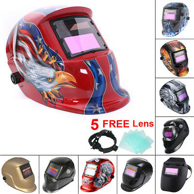 Auto Darkening Solar Powered Welders Welding Helmet Mask W/ Grinding Function UK