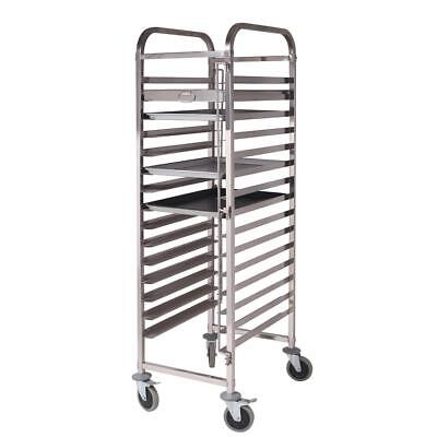 16 Tier Stainless Steel Gastronorm Trolley Bakery Cake Trollye Suit 60*40cm Tray